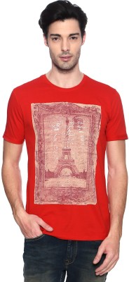 Van Heusen Graphic Print Men's Round Neck Red T-Shirt