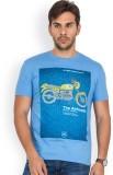 Blue Monkey Printed Men's Round Neck Blu...