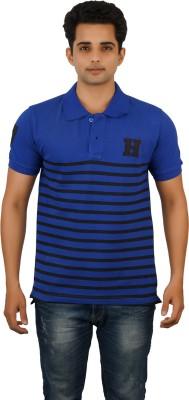 Huntler Striped Men's Polo Neck Multicolor T-Shirt