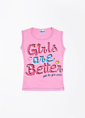 ETeenz Printed Girl's Round Neck T-Shirt