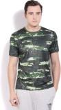 Reebok Printed Men's Round Neck Green T-...