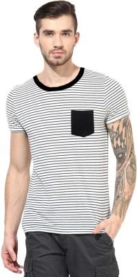 Gallop Striped Men's Round Neck Multicolor T-Shirt