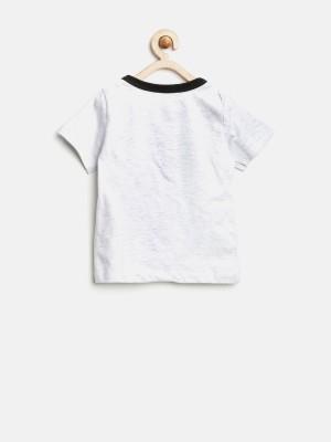 YK Printed Boy's Henley T-Shirt