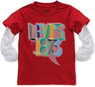 Levis Kids Graphic Print Boy's Round Neck T-Shirt