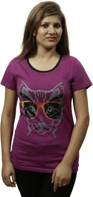 Gypsy Soul Graphic Print Women's Round Neck Maroon T-Shirt
