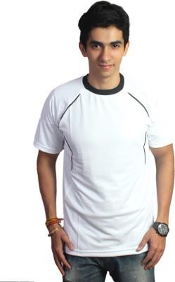 EPG Solid Men's Round Neck White T-Shirt
