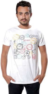 AR Printed Men,s Round Neck Grey T-Shirt