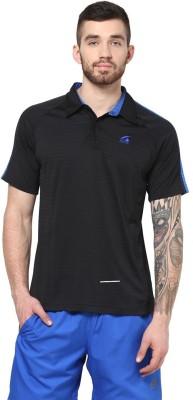Aurro Self Design Men's Polo T-Shirt