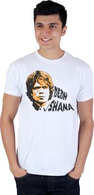 Enquotism Printed Men's Round Neck White T-Shirt