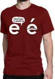 Irongrit Printed Men's Round Neck Red T-...