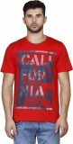 Scottish Printed Men's Round Neck Red T-...