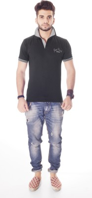 Fast Track Solid Men's Fashion Neck T-Shirt