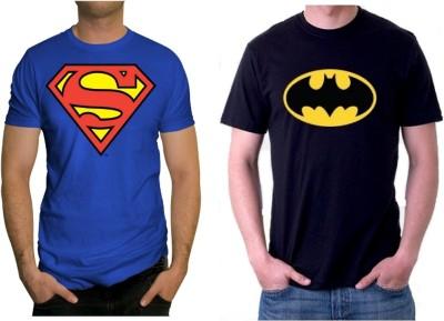 Sprat Graphic Print Men's Round Neck Black, Blue T-Shirt