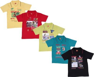Ultra Palio Printed Boy's Polo Neck Multicolor T-Shirt