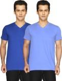 Joke Tees Solid Men's V-neck Blue, Light...