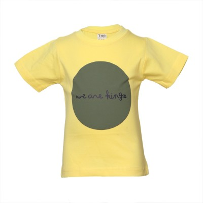 Tales & Stories Graphic Print Baby Boy's Round Neck Yellow T-Shirt