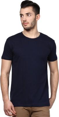 Inkovy Solid Men's Round Neck Dark Blue T-Shirt