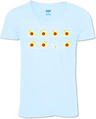 Gabi Printed Men's Round Neck Blue T-Shirt