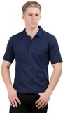 Stylefox Solid Men's Polo Neck Dark Blue...