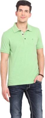 Smokestack Solid Men's Polo Green T-Shirt