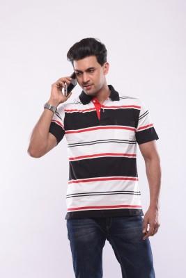 SHAYAN EXPORT Printed Men's Flap Collar Neck Multicolor T-Shirt