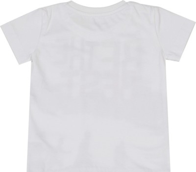 Gini & Jony Solid Boy's Round Neck White T-Shirt