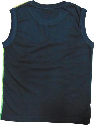MOTU PATLU Solid Boy's Round Neck Green T-Shirt