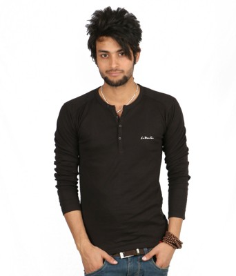 Emerge Solid Men's Henley T-Shirt