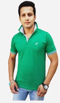 Brandonn Solid Men's Polo Green T-Shirt