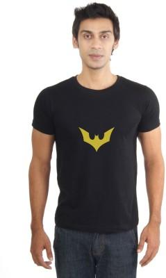 La Graphic Print Men's Round Neck Black T-Shirt