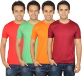 Quetzal Solid Men's Round Neck Maroon, O...