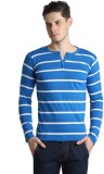 Bigidea Striped Men's Henley Blue, White...