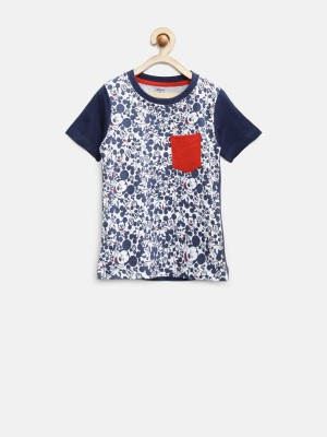 YK Printed Boy's Round Neck T-Shirt