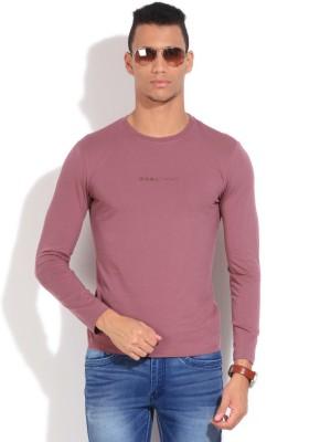 GAS Solid Men's Round Neck Purple T-Shirt