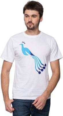 Anveshana Retail Printed Men's Round Neck White T-Shirt