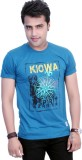 Filimore Printed Men's Round Neck Blue T...
