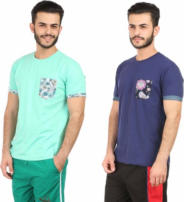 Habitude Printed Men's Round Neck Multicolor T-Shirt