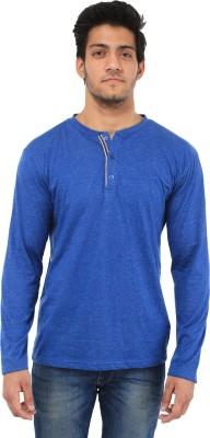Five Stone Solid Men's Henley Dark Blue T-Shirt
