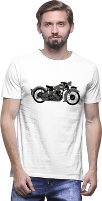 UPTOWN18 Graphic Print Men,s Round Neck Grey, Black T-Shirt