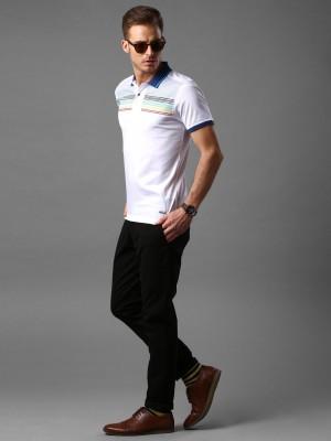INVICTUS Graphic Print Men's Polo Neck White T-Shirt