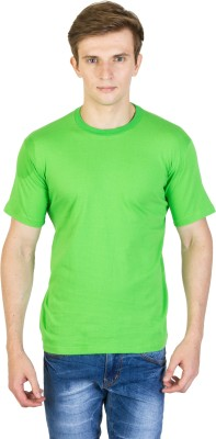 Rexler Solid Men's Round Neck Green T-Shirt