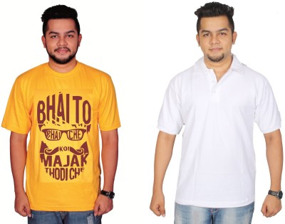 Leo Clothing Printed Men's Round Neck, Polo Neck T-Shirt