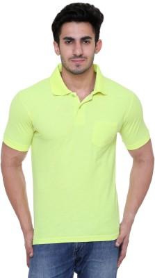 FREE RUNNER Solid Men's Polo Neck Light Green T-Shirt