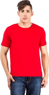 The Odd Toe Solid Men's Round Neck Red T-Shirt