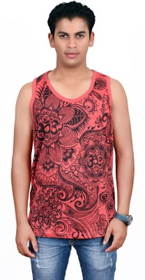 Sure Printed Men's Round Neck Red T-Shirt