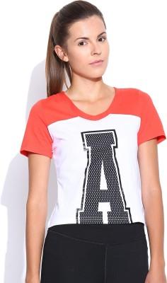 Adidas NEO Printed Women's V-neck Pink T-Shirt