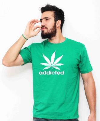 Sukhiaatma Printed Men's Round Neck Green T-Shirt