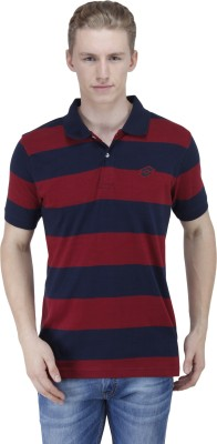 Lotto Striped Men's Polo Red T-Shirt
