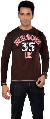 TSG Escape Printed Men's Round Neck Brown T-Shirt