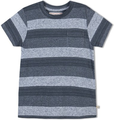 Raine And Jaine Striped Boy's Round Neck Multicolor T-Shirt
